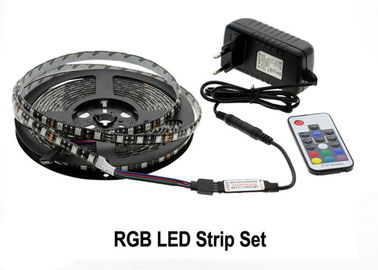 RGB LED 지구 빛 장비 5050 DC12V 5m 300 LEDs Fleixble 17Keys RF 관제사